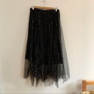Anthropologie / Eva Franco Metallic Midi Skirt